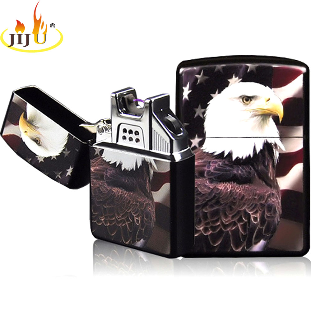 Electronic Cigarette lighter Windproof Metal USB Rechargeable Flameless Electric Arc Cigar JL-220V