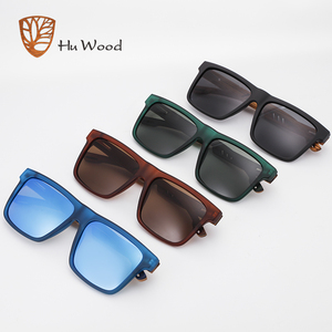 Image 2 - Hu Wood  2020 New High Quality Square Sunglasses Men Polarized UV400 Fashion Sunglass Mirror Sport sun glasses  Driving oculos