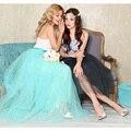 6 camada Nova Moda Faldas Estilo Coreano 100 cm Grande balanço Maxi Saias Das Mulheres Outono Inverno 6 layersTutu Longa Saia de Tule BSQ002