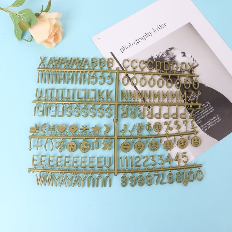 Bronze Characters For Felt Letter Board 340 Piece Multicolor Numbers For Changeable Letter Board