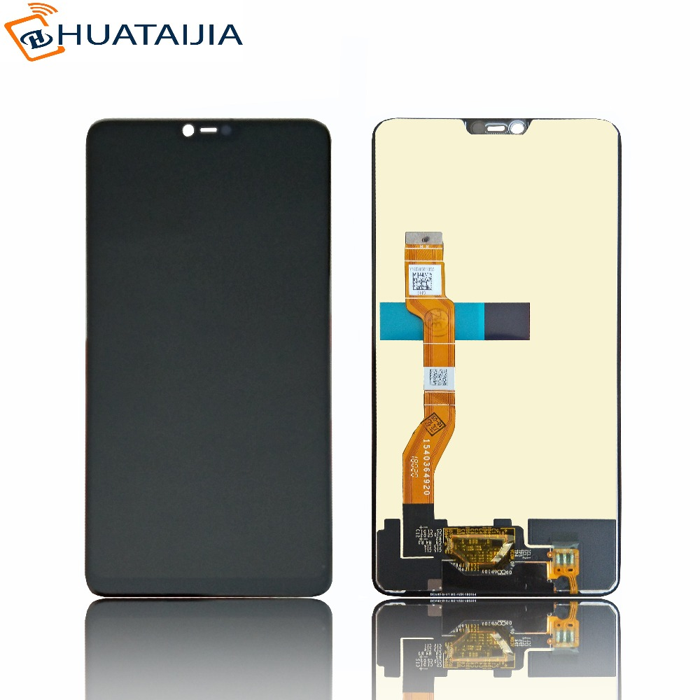 High Quality Black 6.23 inch For Oppo F7 Full LCD DIsplay + Touch Screen Digitizer Assembly Replacement Free Shipping black grade a lcd display touch digitizer complete screen with frame full assembly replacement for iphone 6 6s iphone 6 6s plu