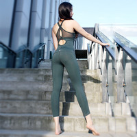 Sexy Beauty Back Dancing Dress Women's Sports Jumpsuit Inner Chest Pad Yoga Jumpsuit Aerial Yoga Set Gym Workout Clothes