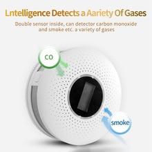 цена на Carbon Monoxide Gas Analyzer Fire Sensor Plastic Carbon Monoxide Detector Smoke Tester Co Combination Sound Alarm Monitor Detect