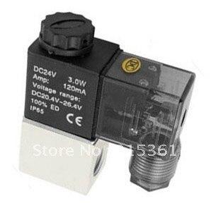 Бесплатная доставка 2V025-08 2 способов 2 Позиции NC воды, воздуха, масляный Соленоидный клапан G1/4 ''Алюминий сплав AC110V или AC220V