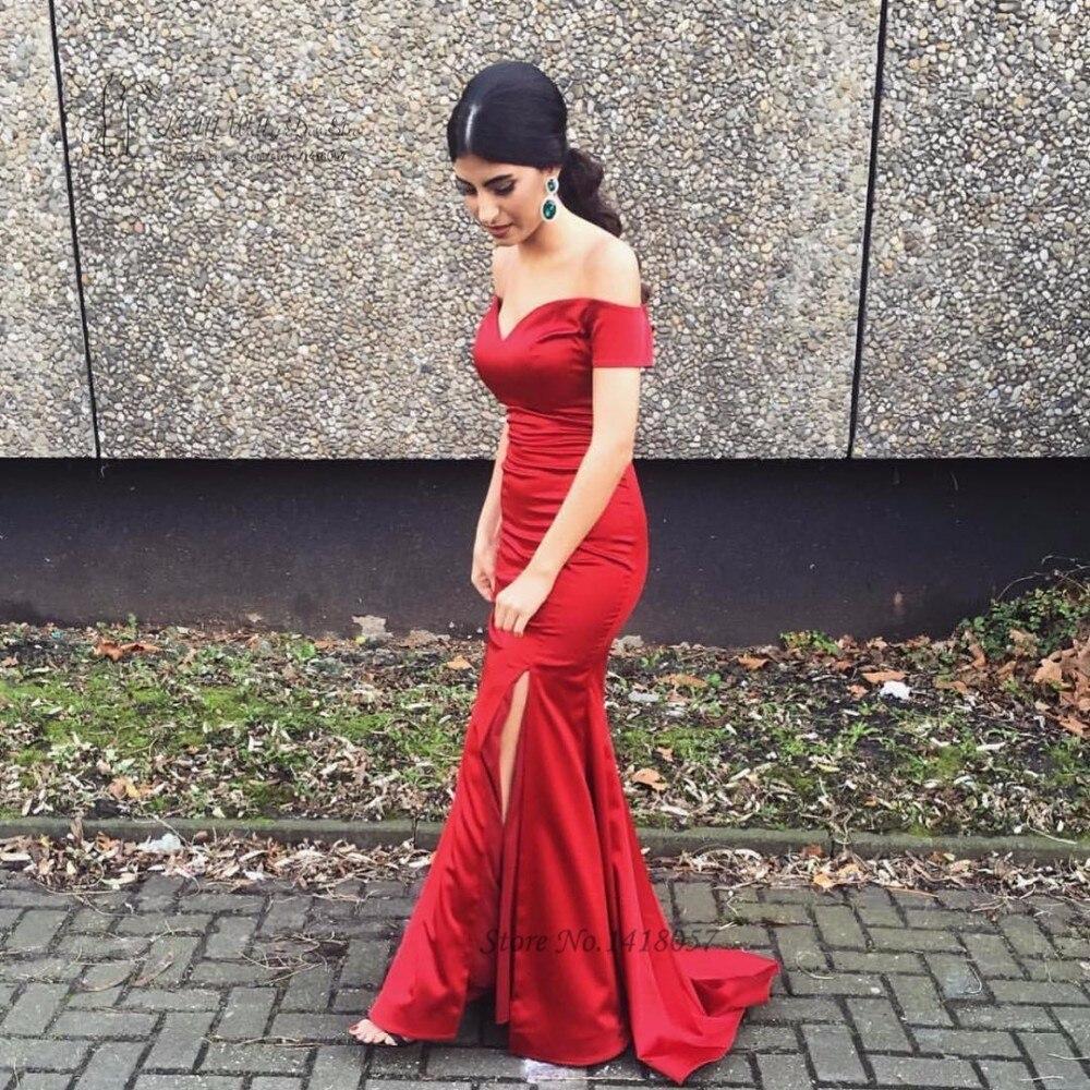 Formais dividir Sweep Trem Vestidos Simples Vestido de Baile Baratos