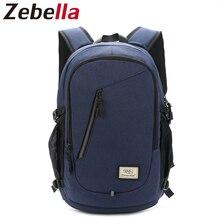 15 Inch Laptop Backpack Men USB Charging Nylon Computer Bag Headphone Rucksack Daypack Notebook Bag Schoolbag Bolsa Mochila2742