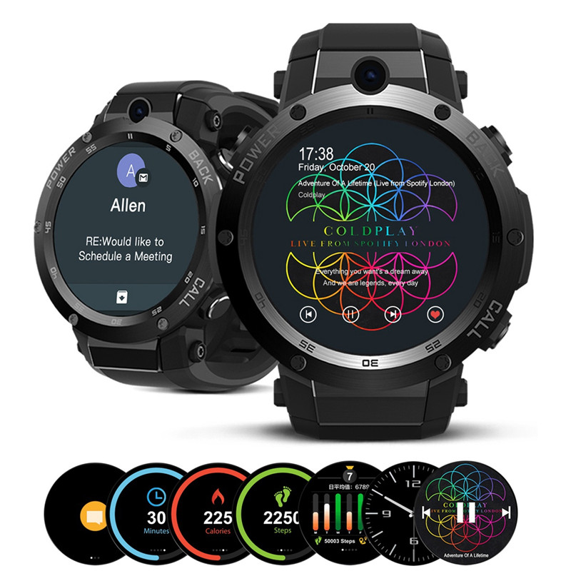 Zeblaze Thor 1.39inch Super AMOLED MTK6580 1GB+16GB 3G GPS WIFI SIM Camera Heart Rate Monitor Smart Phone Watch for IOS/Android