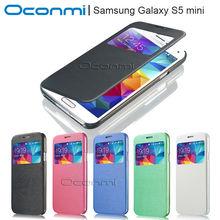 Бумажник кожаный чехол для Samsung Galaxy S5 mini с быстрый просмотр окно для Samsung S5 мини обложка G800 кожаный чехол телефон мешок