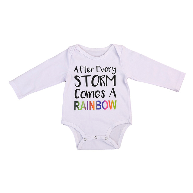 fb859c0d092 Toddler Baby Boys Girls Rainbow Clothes Romper Newborn Kids long sleeve Jumpsuit  Clothes Outfits