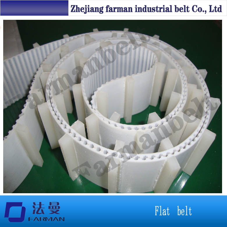 China PU Conveyor Timing Belt with Cleats by Customer Requirement pu belt pu timing belt joint machine single sided belt conveyor belt price sewing machine