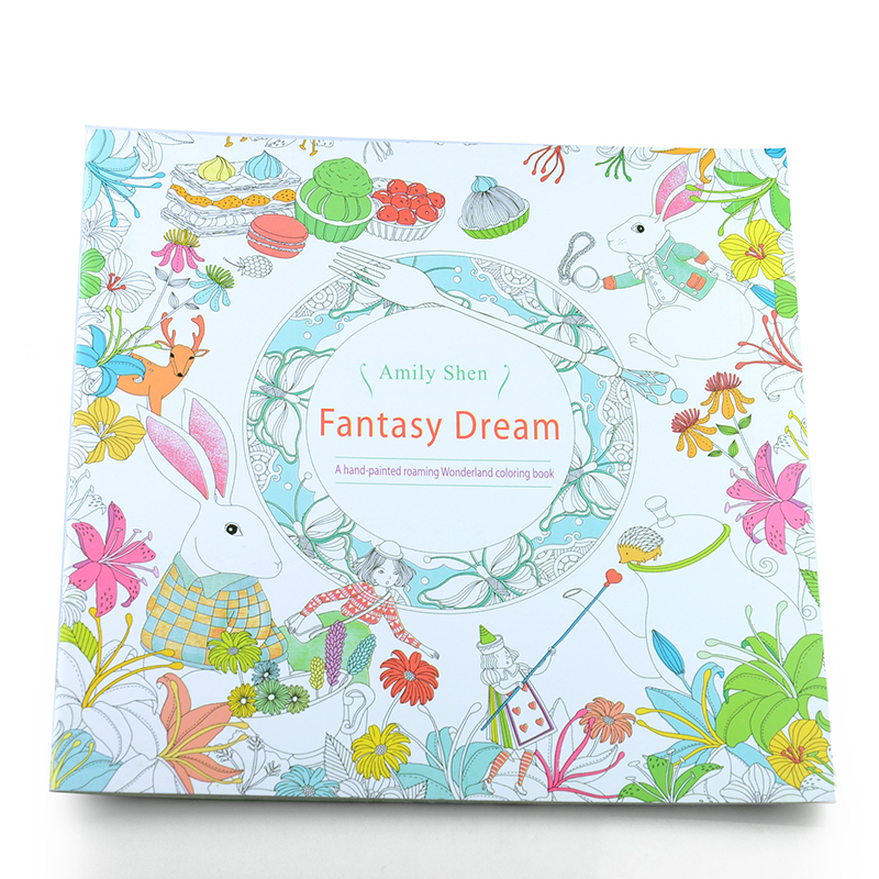 Fantasy Dream An Treasure Hunt Coloring Book For Children Adults Relieve Stress Kill Time Painting Drawing Colouring Book