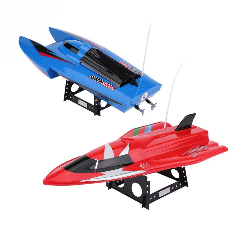 4 Channel 27Mhz / 40Mhz 35KM 60km/h High Speed Radio Remote Control Boat RC Racing Water Fun Boat with Twin Propeller child toy