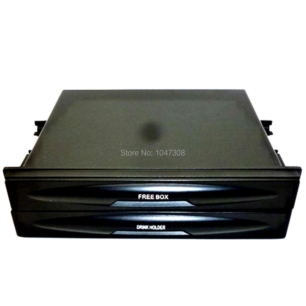 Auto Double Double Din Dash Radio Installation Pocket Cup Holder Storage Box Car