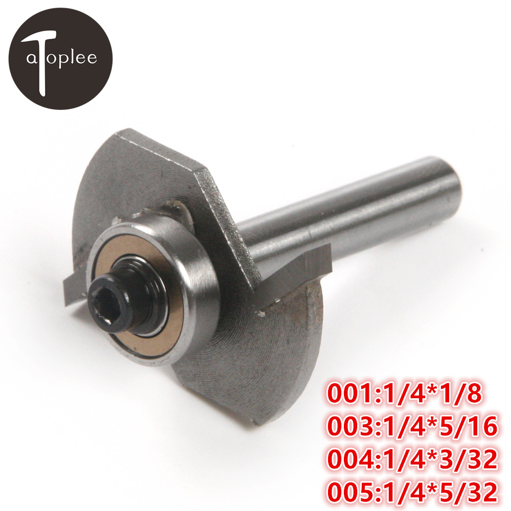 1PCS 1/4 Shank Carving Blade Trimming Machine 1/8,5/16,3/32,5/32 Groove Width woodworking Milling Cutter Tools