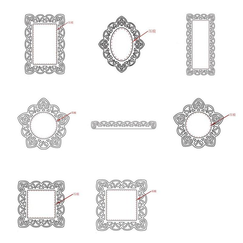 Round lace Design Metal Cutting Die For DIY Scrapbooking Album Paper Card  X