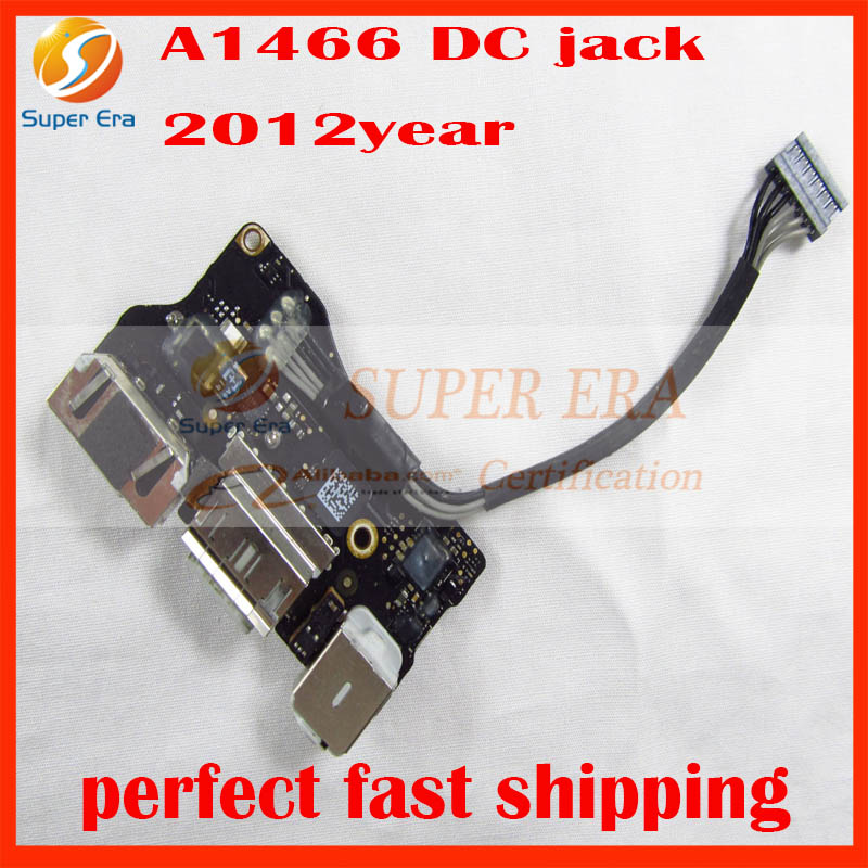 original USED 820-3214-A For Macbook Air 13 Inch A1466 DC in jack I/O power board audio jack 2012 Year MD231 MD232 for macbook air usb i o audio board 820 3213 a 11 laptop a1465 power dc jack md223 md224 2012