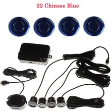 new arrival Buzzer Car Parking Sensor Kit Reverse Backup Radar sound alert System 44 colors Parking assistance 4 Sensors