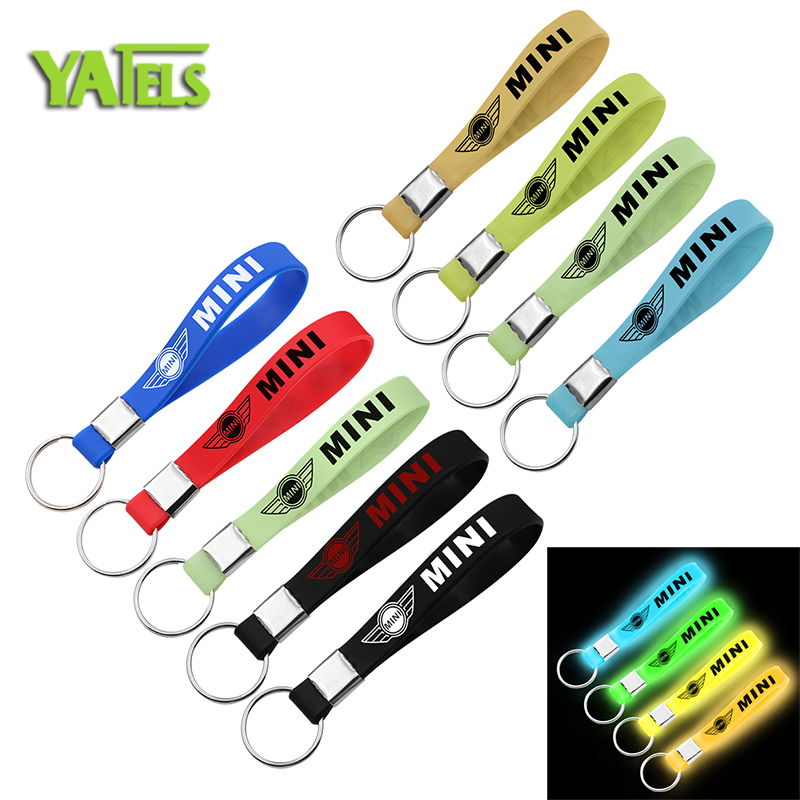 New Luminous Car-Styling Key Chain Keychain Crest Keyring Keyfob Gift For BMW Mini Cooper 2011 2012 2013 R56 R50 R53 F56 F55 R60 image