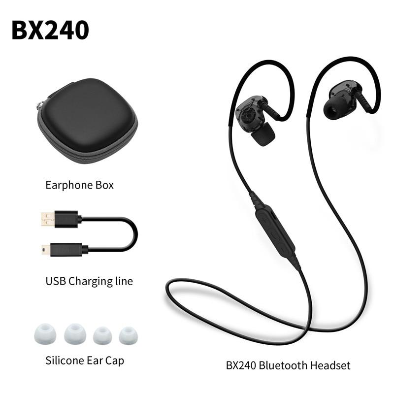 Plextone BX240 Auriculares Bluetooth Écouteurs de Sport Sans Fil HIFI Casque Stéréo Étanche Casque Airpods pour iPhone 7 Plus