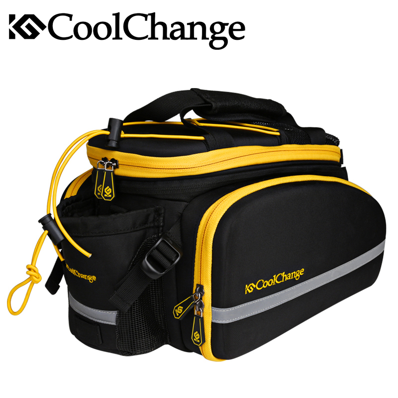 Image 2 - CoolChange Bicycle Rack Bag Reflective Bicycle Rear Seat Luggage 