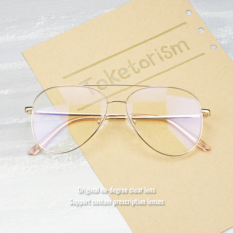 Toketorism optical lens frames vintage eye glasses for men female grade glasses frame gold 6513 in Men 39 s Eyewear Frames from Apparel Accessories