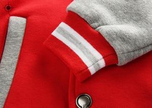 Image 5 - Wiosna jesień dzieci płaszcz wzór w napisy Student odzież baseballowa chłopcy bluza dziewczyny bluzy Casual dziecięca kurtka odzież wierzchnia