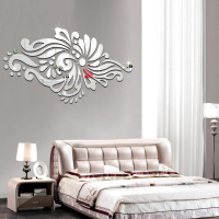 DIY Mirror Wall Sticker Bohemia National Style 3D Stickers For Living Room Sofa Background Wall Decoration