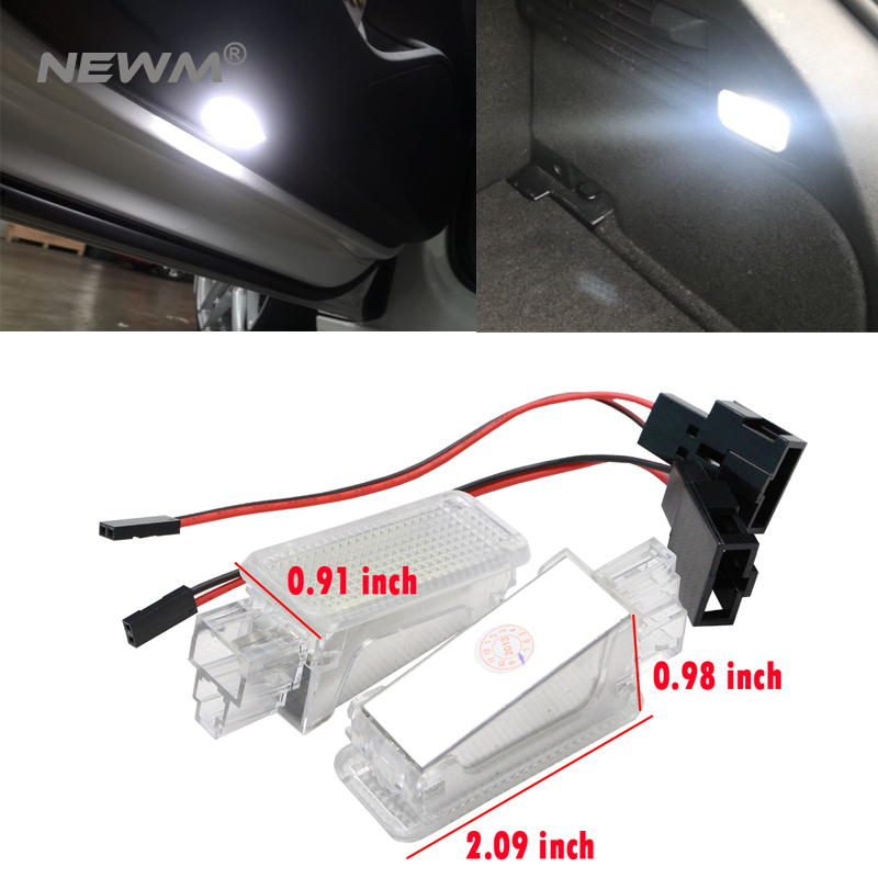 Decorative Lamp Automobiles & Motorcycles Nice 2pcs 12v Car Led Courtesy Door Projector Light For Audi A3/a4/a6/v W/skoda Foot Nest Lights Ghost Shadow Light Lamp 6500k White To Adopt Advanced Technology