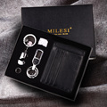 Milesi - New 2017 Brand Men Keychain & Card Holder Gift Set Key Chain Key holder for Men Novelty Trinket