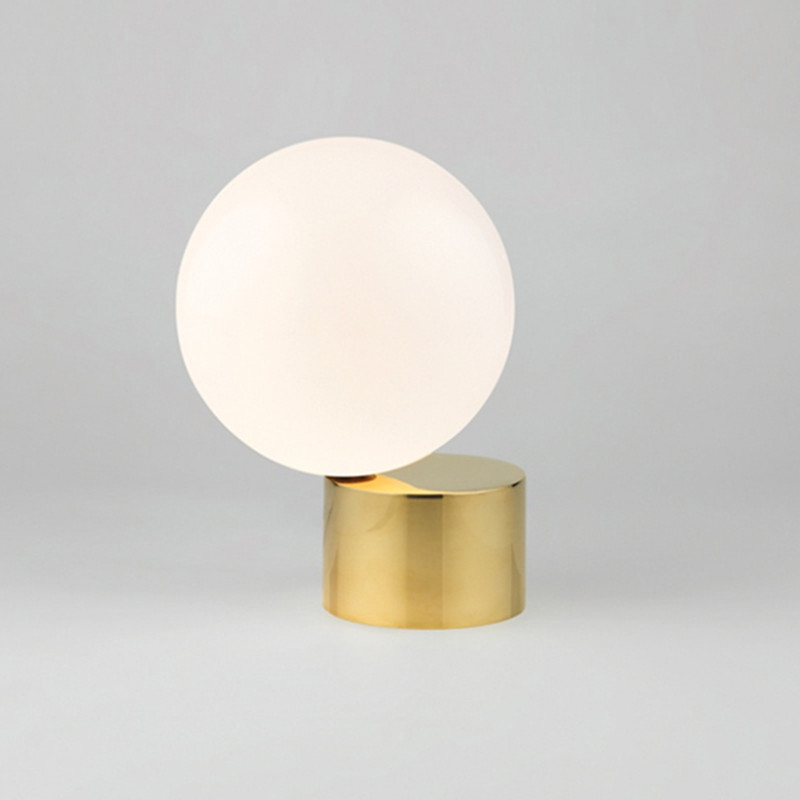 все цены на Glass Ball Table Lamps Bedroom Metal Gold LED Desk bedside Lamps Home Office Led Table Lights Metal Architect Lighting Fixtures