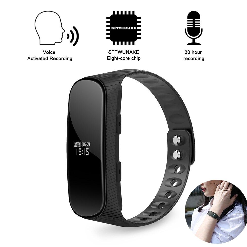 Unterhaltungselektronik Tragbares Audio & Video Radient Sttwunake Armband Mini Versteckte Voice Recorder Uhr Audio Recorder Diktiergerät Professionelle Digitale Hd Denoise Lange-abstand Hifi