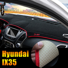 Car dashboard Evitare la luce Strumento di copertura piattaforma scrivania pad Mats Tappeti LHD Per Hyundai IX35 2010-2013 2014 2015 accessori