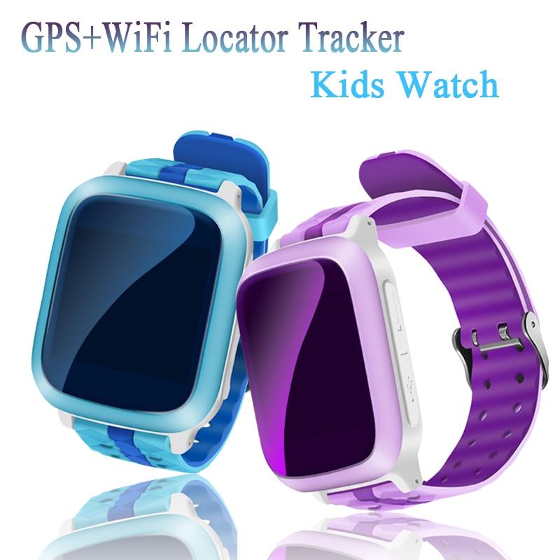 imágenes para Twox elegante DEL GPS del reloj niños reloj impermeable ds18 WiFi Localizador Tracker for Kids Reloj Smartwatch Llamada SOS bebé