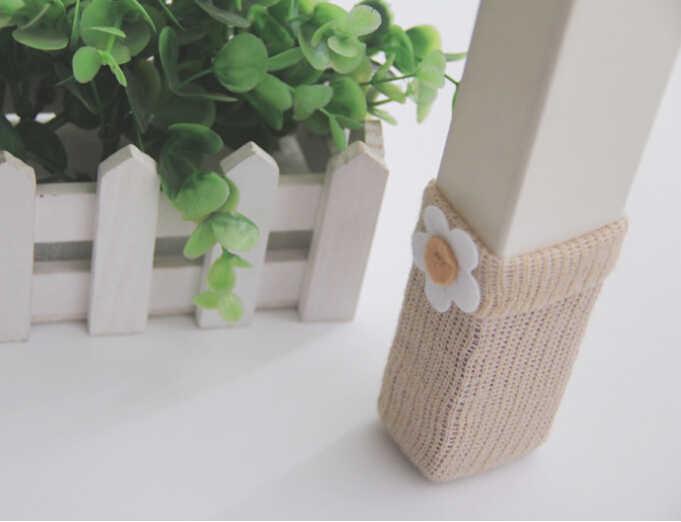 Двойной толстый вязаный обеденный стол стул носочки подстилка для стула защитный чехол стул пинетки носки для стула защитный рукав