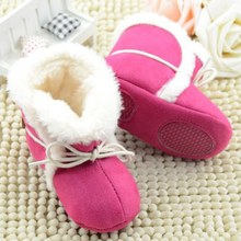 Hot Winter Soft Fleece Boots Girl Newborn Toddler Baby Kid Prewalker Cozy Crib Shoes 2017(China)