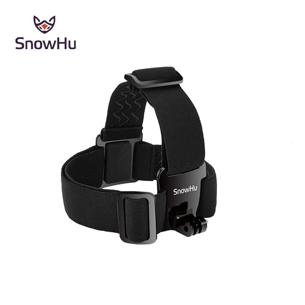 SnowHu para Cabeça strap mount Para Gopro Hero 7 6 5 4 3 + Xiaomi yi 4K Câmera de Ação para Eken H9 SJCAM para Go Pro Acessórios GP23