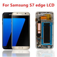 For Samsung Galaxy S7 edge G935 LCD Screen Display with Burn Shadow Touch Screen Digitizer Assembly Replacement Repair Part