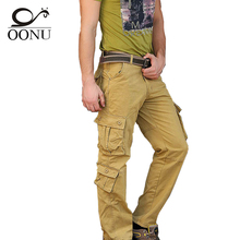 Здесь можно купить  2015 Mens joggers Military Cargo Pants for Men Work Multi Pockets Zipper Trousers Outdoors Overalls Plus Size 30-44 Army Pants
