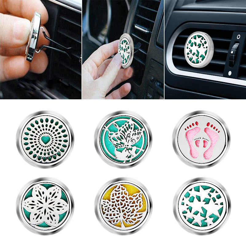 Tree Car Perfume Air Freshener Auto Outlet Solid Fragrance Clip Car Air Vent Perfume Essential Oil Diffuse Car Smell