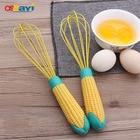 OSSAYI 1Pc Hand Mixer Egg Beater Silicone Manual Egg Beaters Cute Corn Handle Paste Cream Milk Shake Mixing Egg Stiring Tools