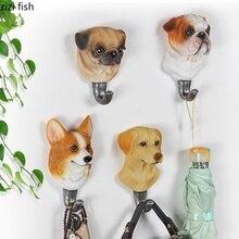 3D собачий крючок, домашний настенный декоративный крючок, креативный крючок для пальто, прихожая, ванная комната, одиночные настенные крючки, декоративный ключ