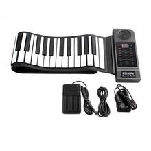 KONIX Folding Keyboard Piano 88 Keys 128 Tones Digital Electronic Organ Roll Up MIDI Piano Built-in Speaker