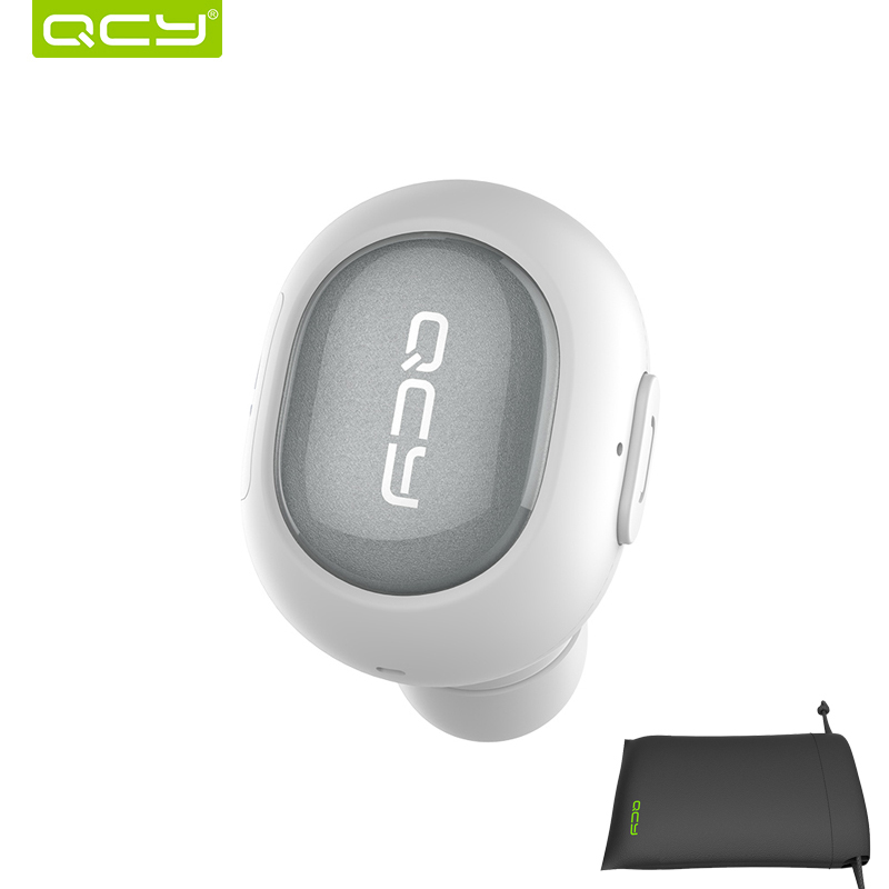 QCY combination sets Q26 car calls earphone bluetooth headset and  portable pouch for iPhone Android Phone qcy sets q26 mini business headset car calling wireless headphone bluetooth earphone with mic for iphone 5 6 7 android