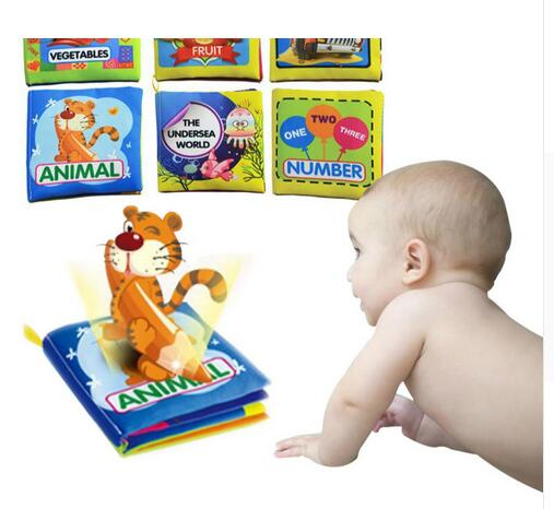 Toys & Hobbies Baby Toys 0-12 Months Intelligence Development Cloth Book Soft Rattles Unfolding Activity Books Cute Animals Kids Toys Beautiful In Colour