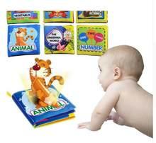 Brinquedos do bebê 0-12 Meses Chocalhos Desenvolvimento da Inteligência Livro de Pano Macio Atividade Desdobramento Livros Animais Bonitos Crianças Brinquedos