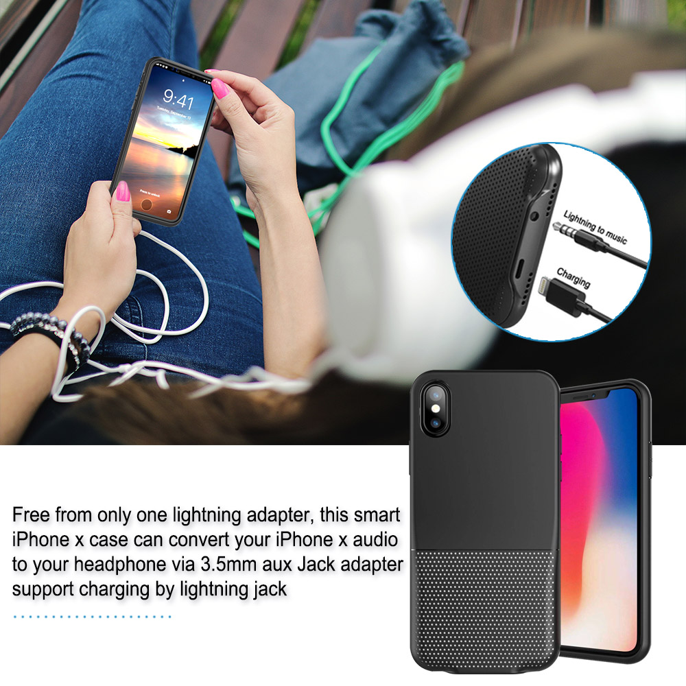 best website 4e944 a9079 US $23.9 |3.5mm Aux Audio Charger Adapter Case Cover for iPhone XR XS MAX  Music Audio Charge Adapter Cable Call Remote Sync-in Mobile Phone Adapters  ...