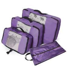 Packing Cubes 3 Set Travel Luggage Packing Organizers with Laundry Bag(Grey)(Red)(Green)(Violet) Overnight Bag Duffle Bags bagsmart 7 pcs set packing cubes travel luggage packing organizers unisex weekend luggage bag travel organizers with laundry bag