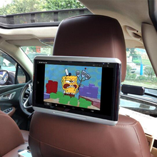 One Pcs 10.6 inch IPS Screen Android LCD Car Rear Seat Entertainment Monitor Headrest HD 1080P Media DVD Player For Toyota Car цена