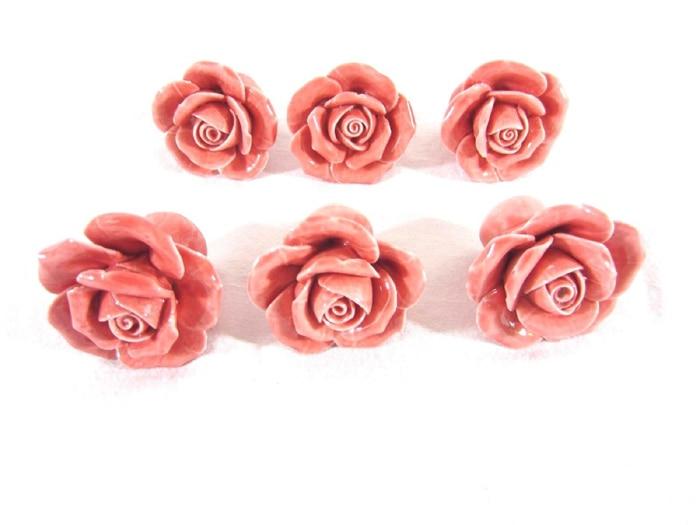 Rose Flower Kitchen Cabinet Cupboard Handles Pull Knob Creative Drawer Cupboard Cabinet Pull Handle Pink Ceramic Knob multi color flower rose ceramic kitchen cupboard cabinet door knob kid s room wardrobe drawer pull handle knob