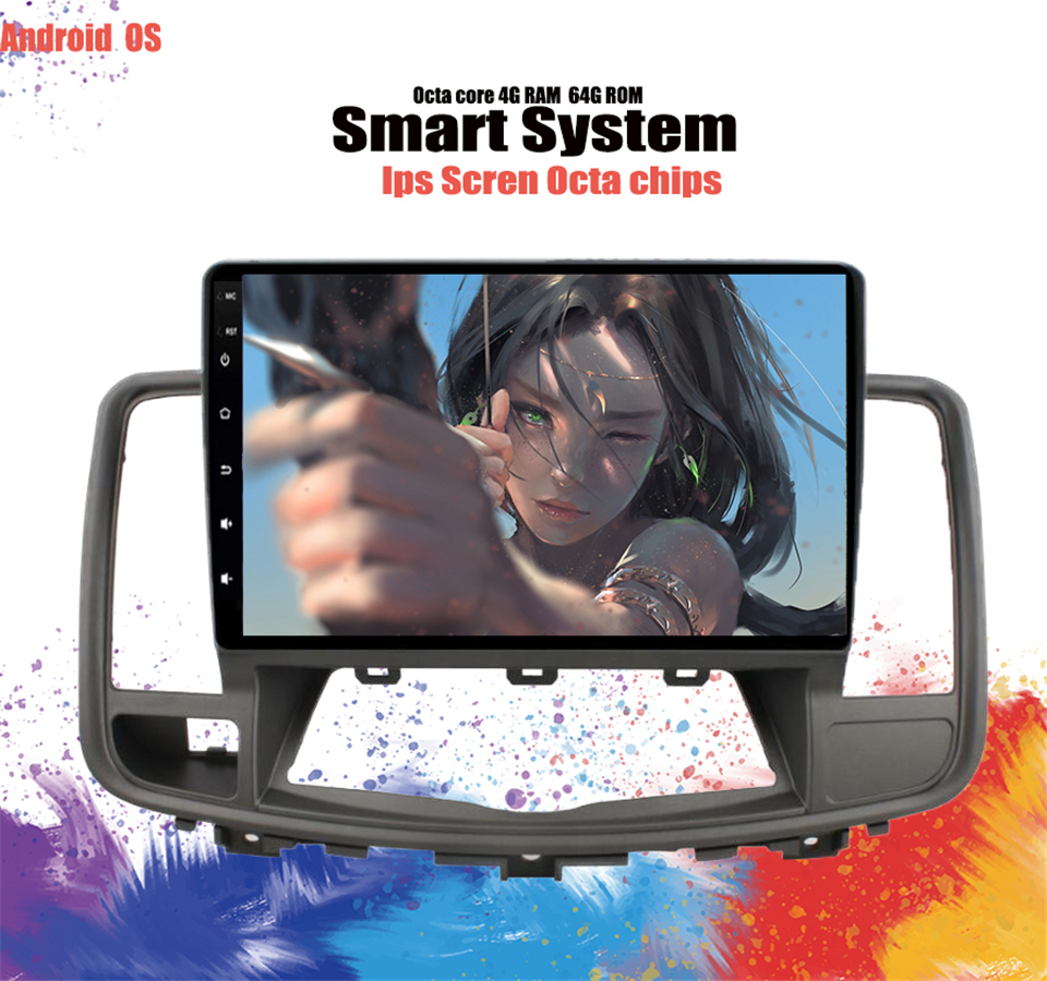 Quad core android 6 0 Car Dvd Player For NISSAN Teana J32